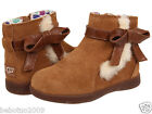 NEW TODDLER UGG AUSTRALIA LIBBIE CHESTNUT SUEDE SHEEPSKIN 1005151T ORIGINAL