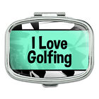 Rectangle Pill Case Trinket Gift Box I Love Heart Sports Hobbies Go-Ir