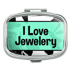 Rectangle Pill Case Trinket Gift Box I Love Heart Sports Hobbies It-Ma
