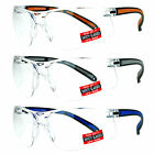 SA106 High Quality ANSI Z87.1+ Protection Half Rim Clear Lens Safety Glasses