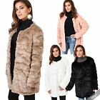 Womens Chic Fashion Retro Tailored Fur Fluffy Long Coat Jacket New Year Party