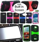 NP ARMOR Case with BUILT IN SCREEN PROTECTOR Faceplate Phone Cover Case For ZTE