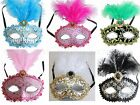 Venetian Masquerade Mask w/Feathers Party Prom Mardi Gras Wedding Halloween