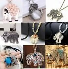 New Fashion Charm Elegant Elephants Pendant Sweater Chain Retro Silver Necklace
