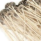 "HTP 104 COTTON CORE PRETABBED WICKS 6"" LENGTH GREAT IN SOY OR PARAFFIN WAX"