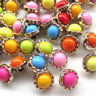 New 20/100/500pcs Mix Beads Buttons Gold Edges Sewing Craft Back Holes T0828