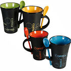COFFEE MUG WITH SPOON TEA SET DRINK LATTE CUPS CERAMIC KITCHEN ESPRESSO 78/7979