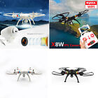 Real-Time Syma X8W Wifi FPV RC Quadcopter Headless Mode Drones 2.4G W/ HD Camera