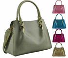 Ladies Celebrity Style Metallic Jelly Patent Tote Bag Womens Satchel Handbag