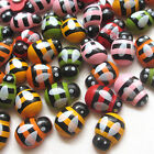 New 10/50/100/500pcs Ladybeg Ladybird Refrigerator Sticker Decor Mix Lots T0809