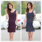 Women Girls Beach Casual Bodycon Mini Dress Party Cocktail Top Shirt Summer