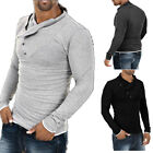Men's Stylish Tops Slim Fit Casual Fashion T-shirts Polo Shirts Long Sleeve Tee