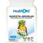 Health4All Quercetin 400mg + Bromelain 100mg Capsules | Natural antihistamine £11.99 GBP on eBay
