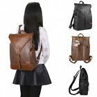 """Women's Vintage Classic Casual PU Leather Bag School Travel 14"""" Laptop Backpack"""