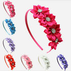 Baby Girl Kids Stain Rhinestone Flower Hair Band Headband Headdwear accessories