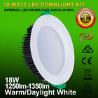 """4""""18W 120mm cutout dimmable led downlights IP44 white fitting 3000K/5000K"""