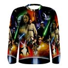 New Star Wars sublimated Men's Long Sleeve T-shirt Size S M L XL 2XL 3XL tee