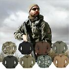 US STOCK Mens Outdoor Camo Waterproof Coat Military Tactical Army Hoodie Jacket