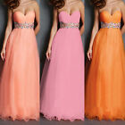 Hot Long Tulle Evening Dresses Formal Party Ball Gown Prom Bridesmaid Dress 6-16