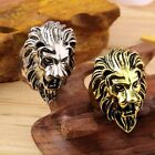 Stainless Steel New Lion's Head Ring Men's Vintage Cool Ring American Size 8-10