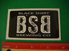 Beer STICKER ~*~ BLACK SHIRT Brewing Company ~*~ Denver, COLORADO Craft Brewery