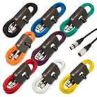 Male to Female XLR Mic Lead / Balanced Microphone / Mic Patch Cable / 7 Colours