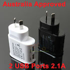 USB Port Home AC Wall Charger Adapter AU Plug for iPad iPhone 5s 6/6s/7/Plus SE