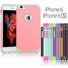 """Hybrid Rugged Rubber Shockproof Hard Case Cover for iPhone 6 6S 4.7"""" / 5.5"""" Plus"""