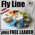 FLY FISHING - 8wt / 100ft FLY LINE ready for rod & reel weight Forward