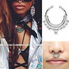 Cool Stainless Steel Fake Septum Cliker Nose Ring Nipple Clip on Non Piercing