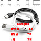 USB-C 3.1 Type C Male to USB 2.0 A Male Data Sync Charger Cable For Cell Phones