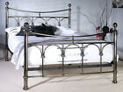 New Limelight Gamma Antique Nickel Metal Bed Frame in 2 sizes, 4`6 & 5`0
