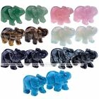 """2"""" Elephant Figurine Stone Carving Gemstone Crystal Paperweight Collectibles"""