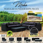 New Outdoor Garden Weather Proof Patio Pe Wicker Lounge Couch Sofa Furniture