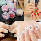 12Pcs Mix Color 3D Acrylic Glitter Sequins Spangles Set Nail Art Tips Decoration