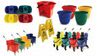 COLOUR CODED COMMERCIAL INDUSTRIAL MOP BUCKET STRONG WRINGER METAL KENTUCKY