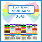 flat place cards - 100) 2x3½ Flat Blank Color Cardstock Cards Wedding Table Guest Escort Place Card
