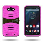 Protective Tough Hybrid Phone Cover Case with Kickstand for Motorola Droid Turbo