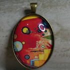 OVAL GLASS TILE PENDANT/KANDINSKY WASSILY/ABSTRACT ART