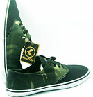 Kustom Mens Skate Shoes Runners Sneakers Black Green Army camouflage US 9 10 11