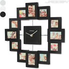 Photo Frame Wall Clock Home Decor Modern Design 3D Effect Gift Choice of Colour