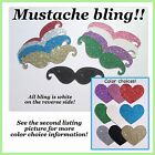 Bling mustache, paper cardstock, glitter mustache, sparkle paper mustaches
