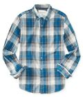 Aeropostale Mens Western Plaid Button Up Shirt