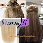 """22""""One Piece 5 Clips clip-in on 100% india Remy Human Hair Extensions 100g l"""