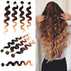 3 bundles Brazilian Virgin Remy body wave ombre hair extensions 150g UK STOCK