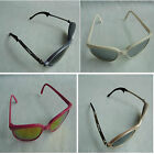 Purple White Pink Peach Plastic Frame Silver Yellow Purple Dark Lens Sunglasses