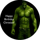 The Hulk Happy Birthday Edible Image Cupcake Cake Frosting Sheet