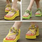 Women Platform Sandals Beach Shoses Flat Lady Slippers Wedge Flip-Flops NEW