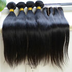 4 Bundles Brazilian Straight Virgin Human weft & 1pc Lace three Part Closure