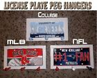 NFL LICENSE PLATE PEGS HANGERS (Great For Dorm & Kids Room)